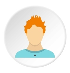 Male avatar icon flat style vector image vector image