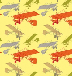 seamless pattern gliders vector image