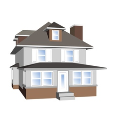 house isolated on white vector image vector image