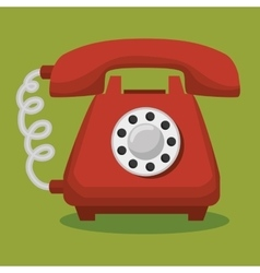 Old telephone isolated icon vector