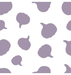 Pattern Silhouette Garlic vector image