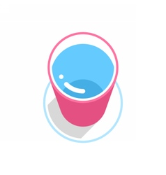 Pink bucket with clean water vector