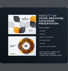 presentation abstract set of modern vector image