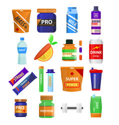 sport and fitness nutrition and dietary vector image vector image