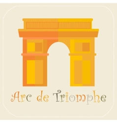 Arch of Triumph icon flat vector image vector image