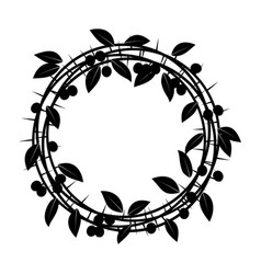 blackthorn berries branches and leaves frame vector image vector image