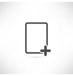 Empty Plus Icon vector image vector image