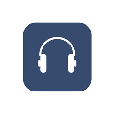 headphone icon flat ui design vector image vector image