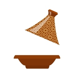 Moroccan tajine isolated vector image vector image