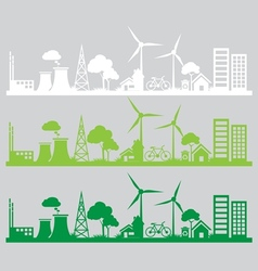 Panorama city renewable vector image vector image