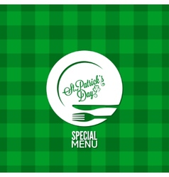 patrick day party holiday menu design background vector image vector image