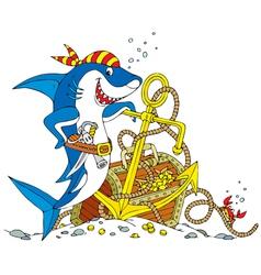 Pirate shark vector