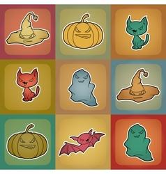 Halloween Elements Background vector image