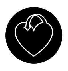 heart love with arrow vector image