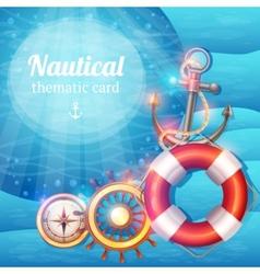 Marine Symbols Background vector image