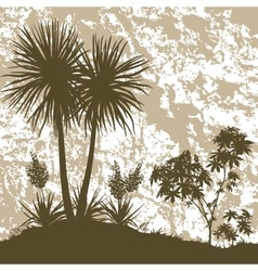Palms Plant and Abstract Background vector image vector image