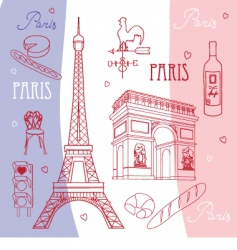 paris vector image