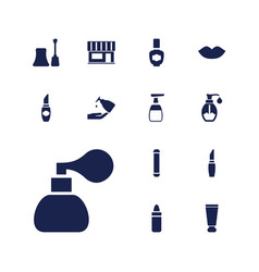 13 cosmetic icons vector