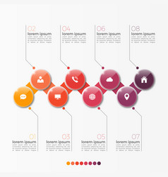 8 option infographic template with circles vector image vector image