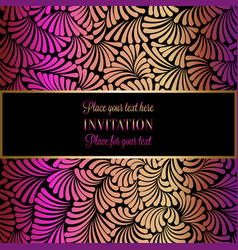 abstract background with luxury vintage frame vector image