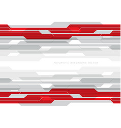 abstract red grey circuit on white with blank vector image