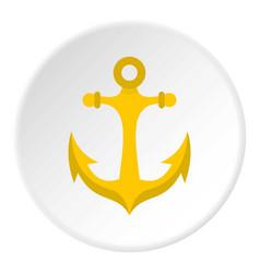 anchor icon circle vector image