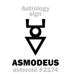 astrology asteroid asmodeus vector image