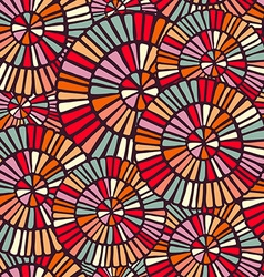 Background pattern with colorful circle mosaic art vector