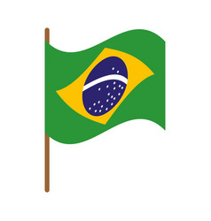 brazil flag isolated icon vector image