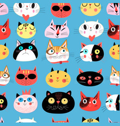 Bright seamless pattern of multi-colored vector
