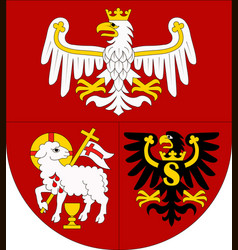 Coat of arms of warmian-masurian voivodeship vector