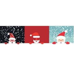 collection christmas santa vector image