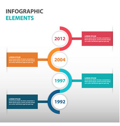 Colorful circle business timeline roadmap vector