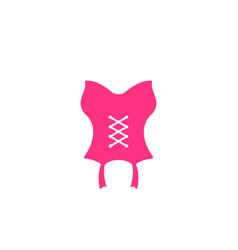 corset icon vector image