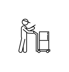 courier parcel signs and symbols can be used for vector image
