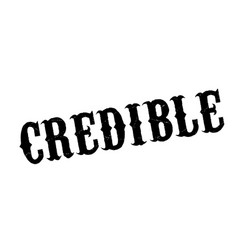 Credible rubber stamp vector
