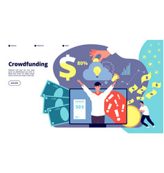 crowdfunding startup financial investment vector image