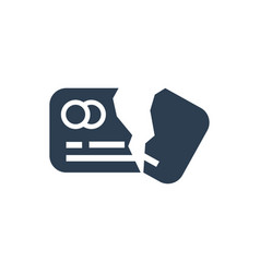 Damage credit card icon vector