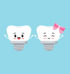 Dental implant tooth orthodontist icon set vector