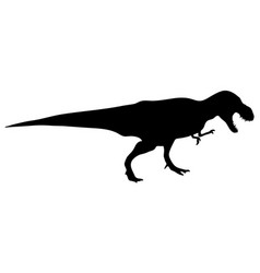 dinosaur t-rex silhouette vector image