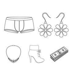 earrings costume jewelry briefs and other vector image