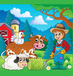 Farm animals theme image 9 vector