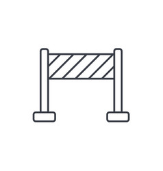fence construction thin line icon linear vector image