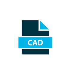 File cad icon colored symbol premium quality vector
