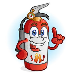 Fire extinguisher cartoon character vector