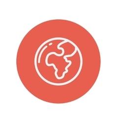 Globe thin line icon vector