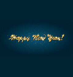 gold happy new year greeting text vector image