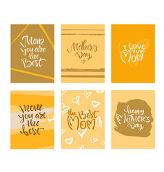 Greeting card with mothers day vector