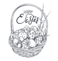 hand drawn ornate eggs vector image