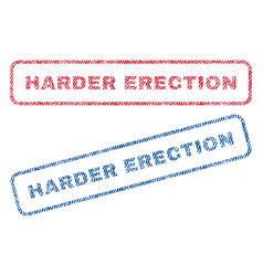 Harder erection textile stamps vector